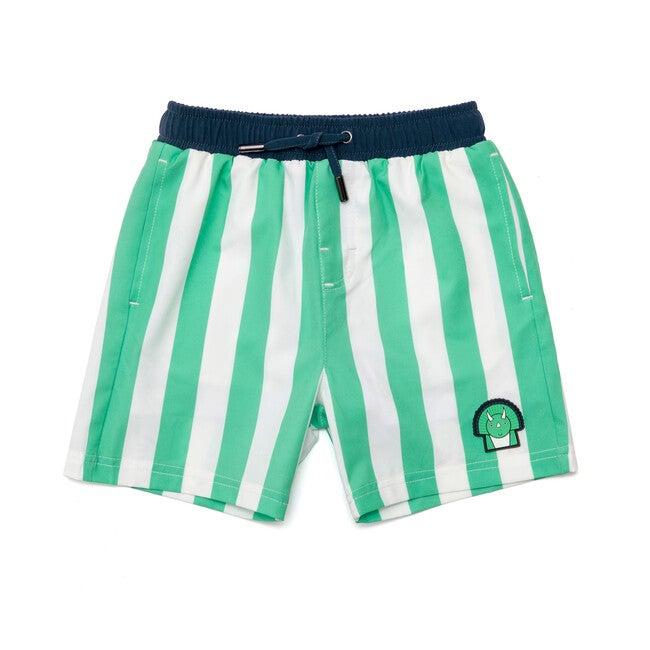 Boys Spike Swim Trunks, Green