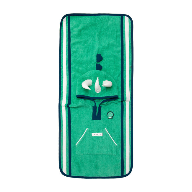 Kid's Spike Poncho Towel,Green