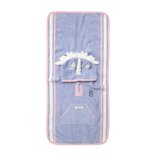 Girl's Sparkle Poncho Towel, Lilac