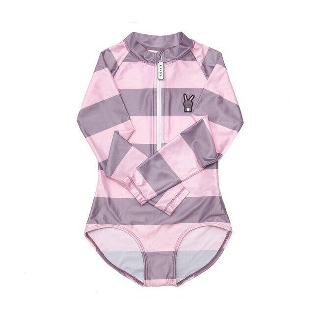 Girl's Hop Swimsuit, Grey