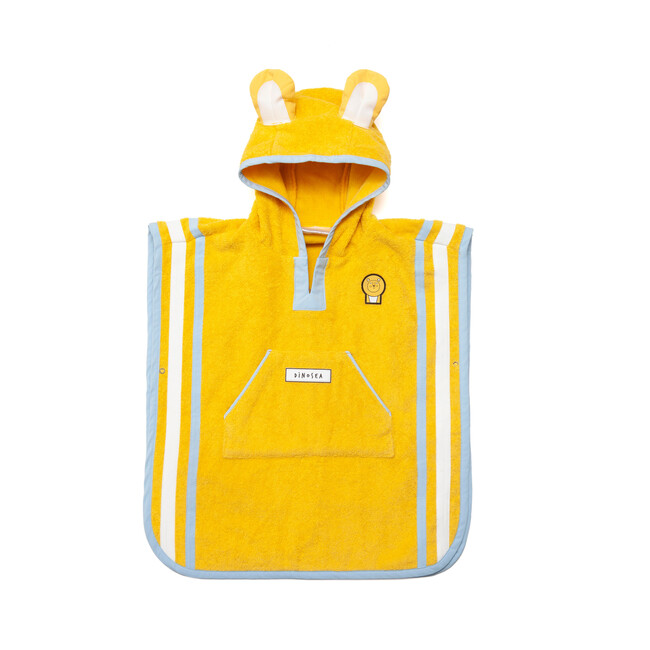 Kid's Cub Poncho Towel,Yellow