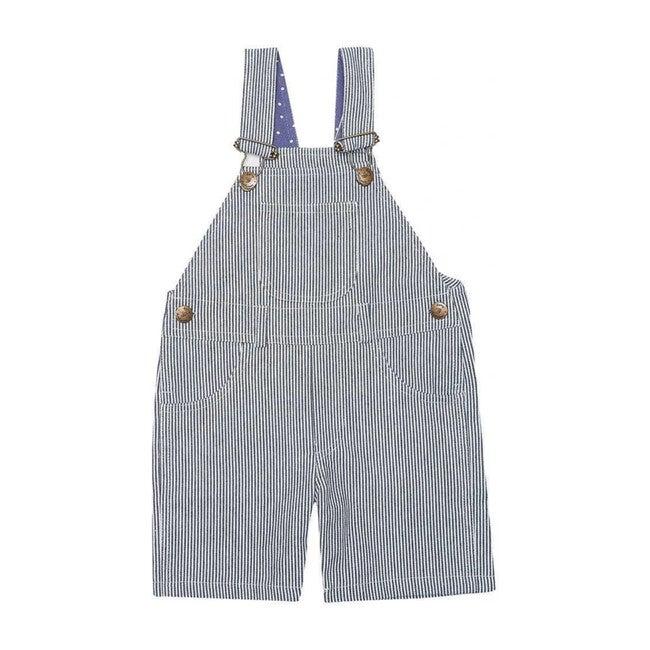 Otto Blue Stripe Overall Shorts