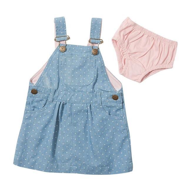 Overally Dress, Dotty Denim