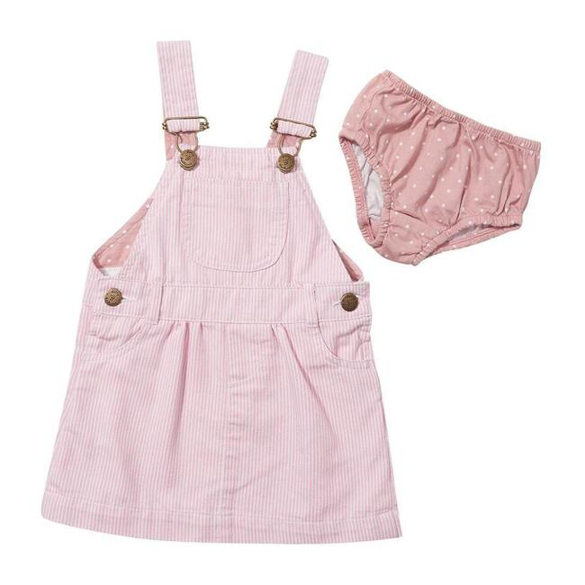 Overall Dress, Pink Stripes