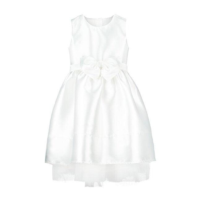 Florence Taffeta Bow Dress, White