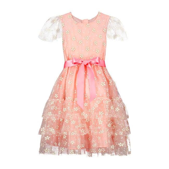 Cinderella Blossom Tulle Dress, Pink