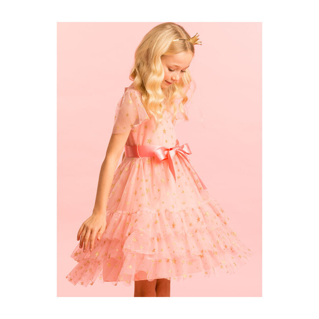 Cinderella Star Tulle Dress, Sugar Pink