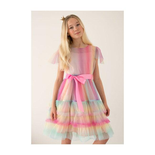 Cinderella Rainbow Tulle Dress, Pink & Lilac
