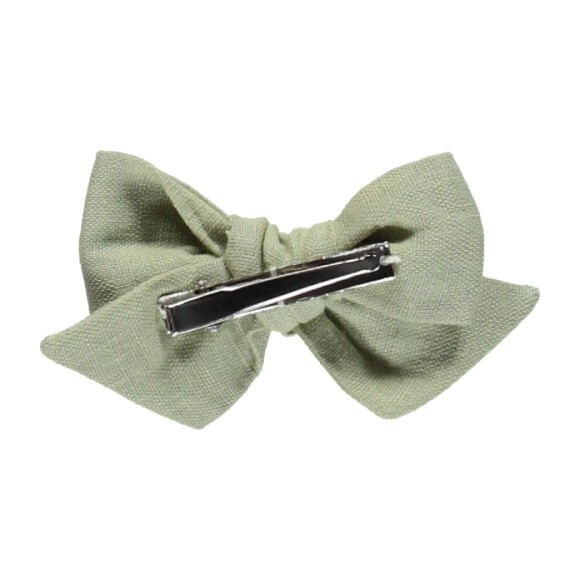 Olivia Bow Natural Green