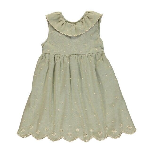 Olivia Dress Natural Green