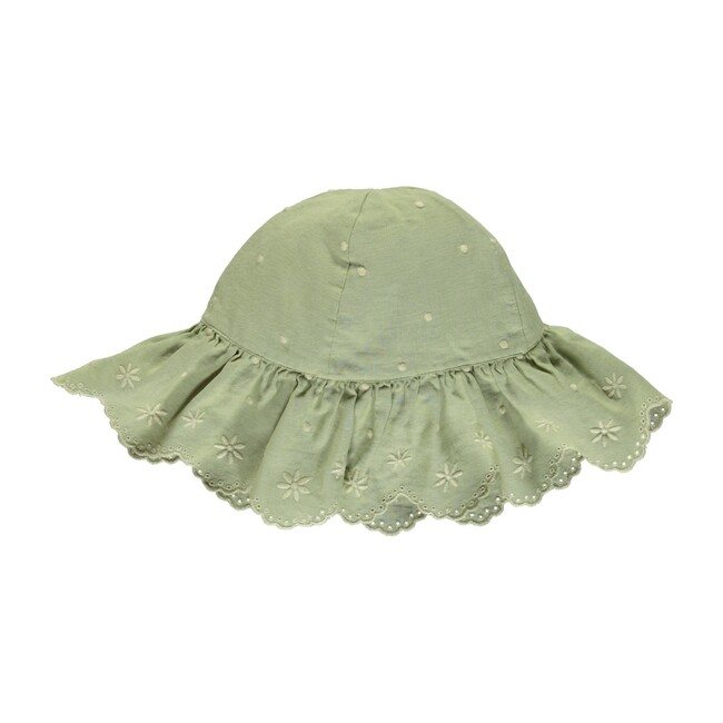Olivia Hat Natural Green