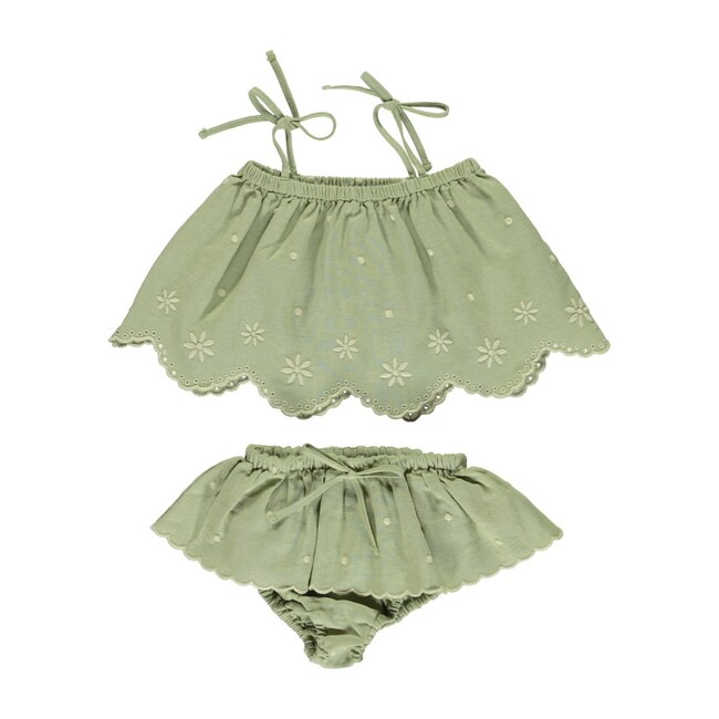 Olivia Baby Set Natural Green