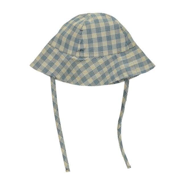 Eleanor Hat Honey/Blue Check