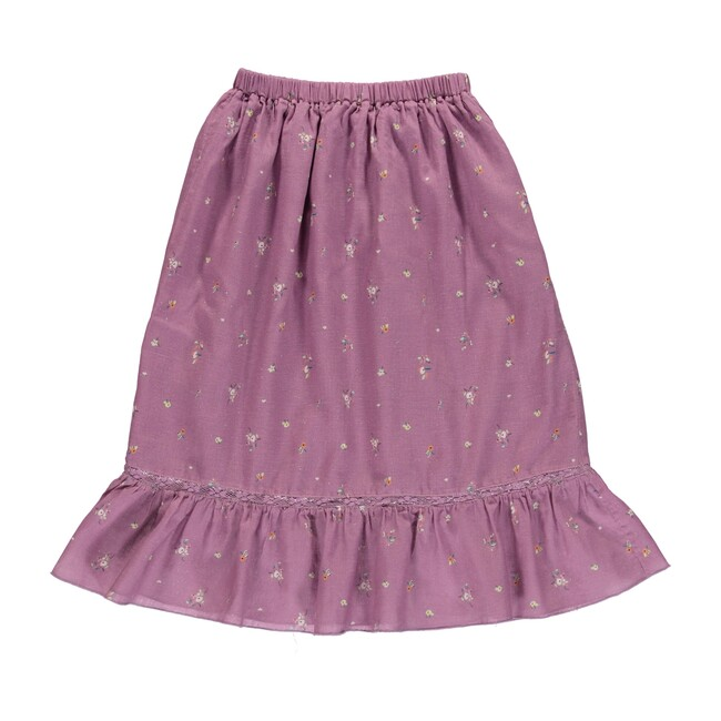 Adele skirt Purple Flowers