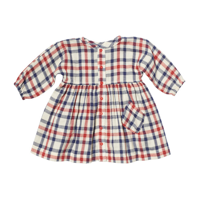 Cecil Baby Dress, Red Check