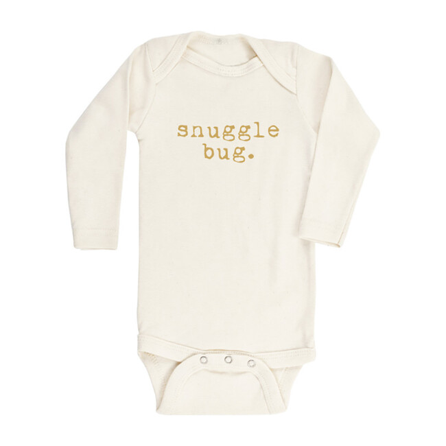 Snuggle Bug Long Sleeve Onesie, Goldenrod