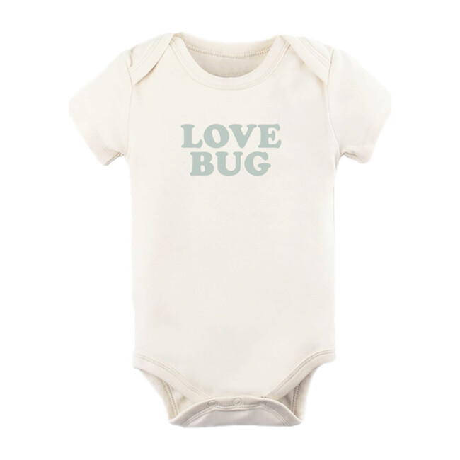 Love Bug Short Sleeve Onesie, Sage