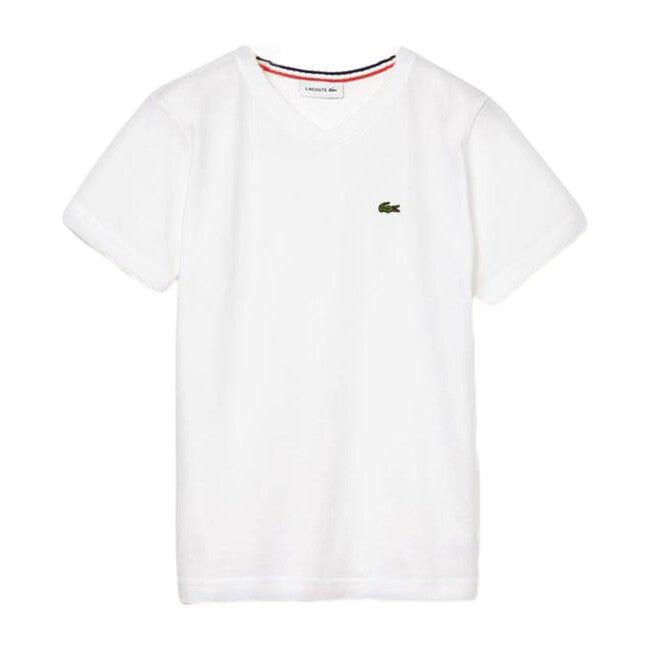 V-Neck Cotton T-Shirt, White