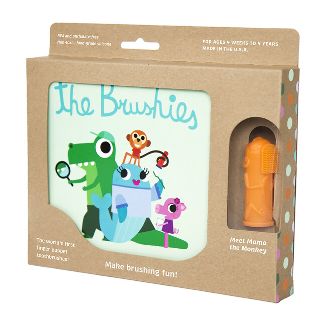 Momo the Monkey Toothbrush with Book
