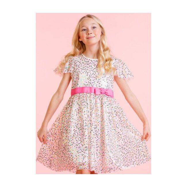 Seren Pink Sweetie Sequin Girls Party Dress