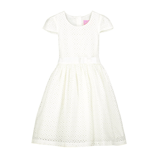 Sienna White Cotton Embroidered Girls Party Dress