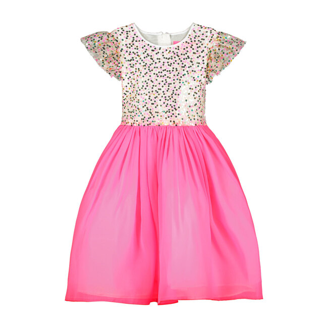 Shimmer Pink Sweetie Sequin Girls Party Dress