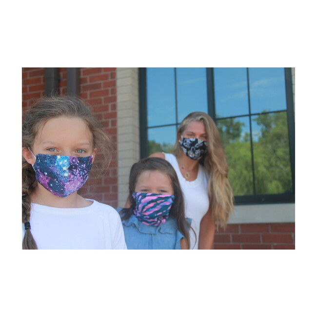 Kids Facemask bundle of 3, Galaxy Cat