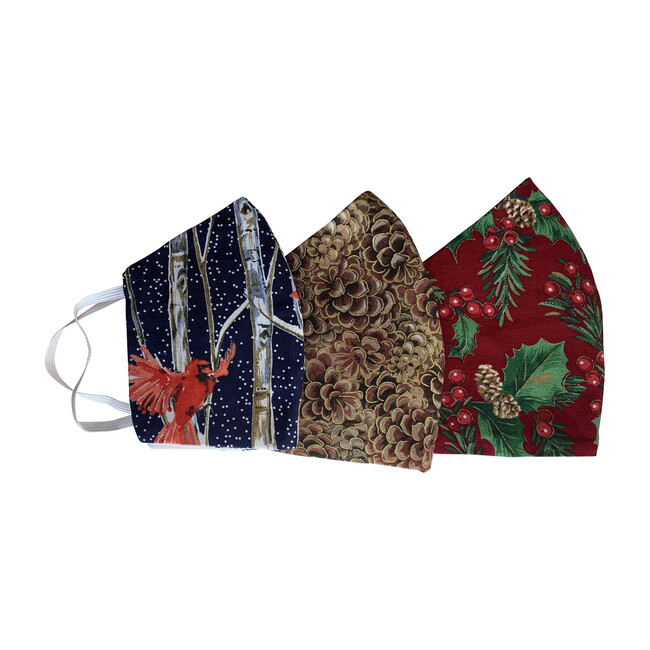 Holly Day Facemask bundle of 3