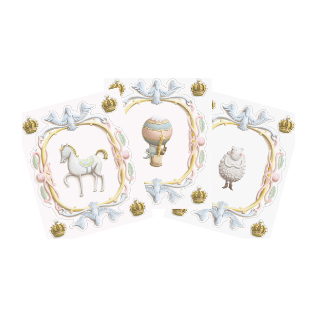 Set of 3 Large Scale Wall Crests, Crowns - Wallpaper - 1
