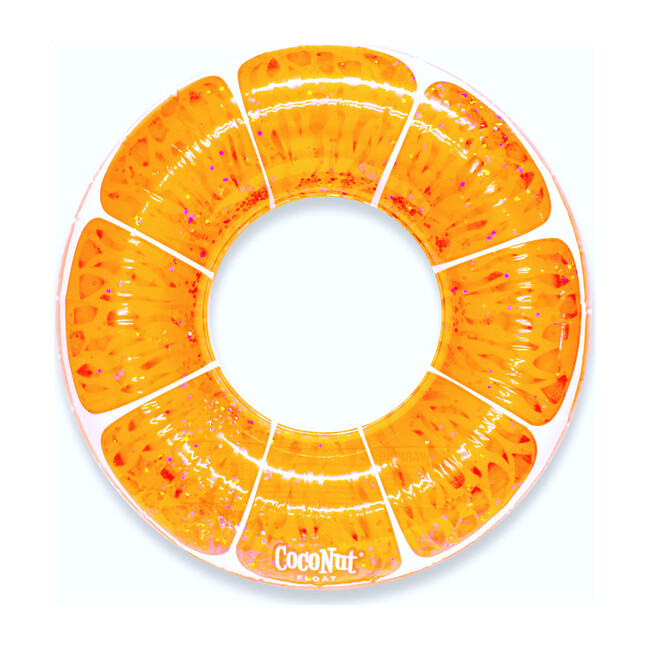 Tangerine Orange Glitter Pool Float