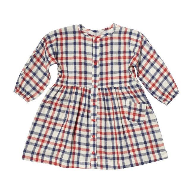 Cecil Dress, Red Check