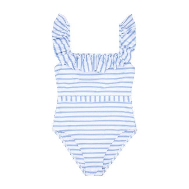 Women's Boca Stripe Ruffle One Piece