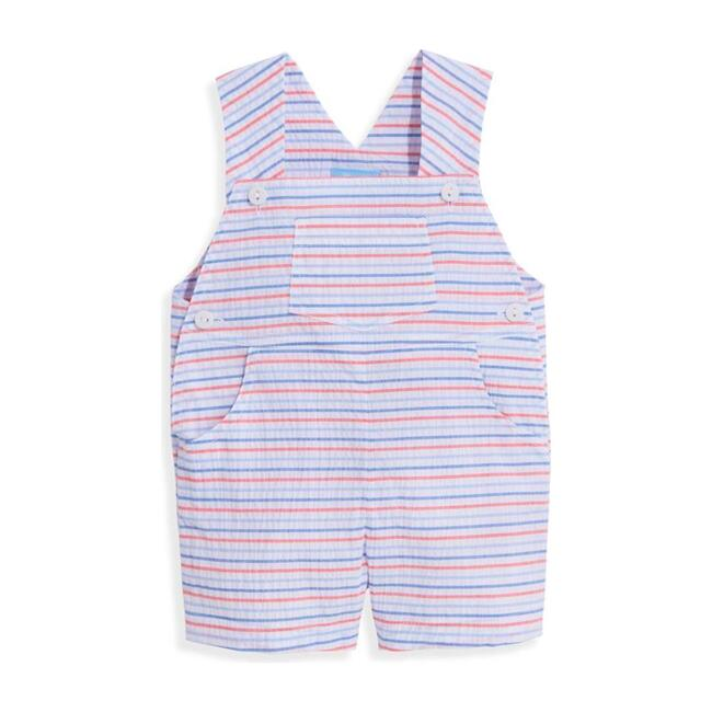 Short Overall, Americana Seersucker Stripe
