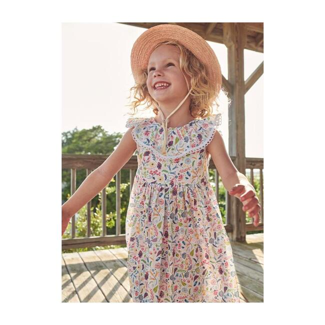 Scalloped Button Back Dress, Parisienne Floral