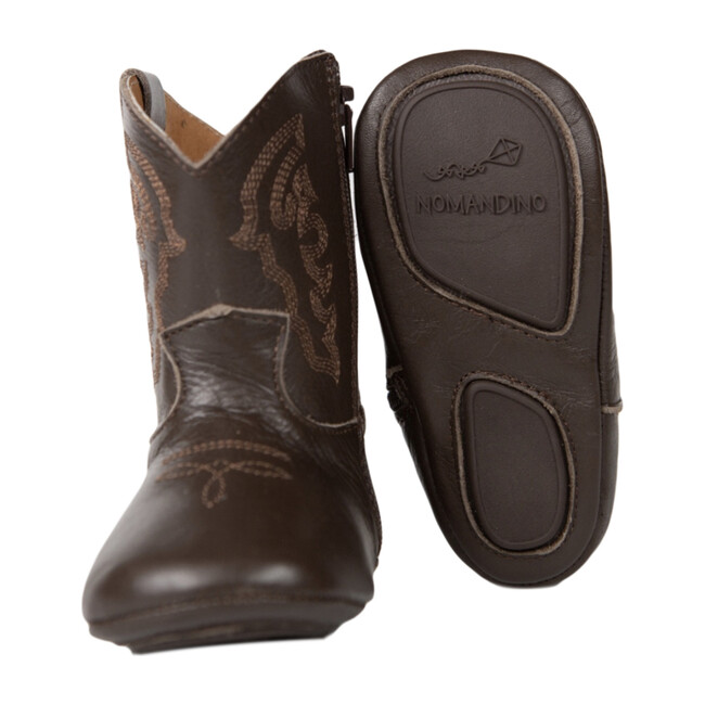 Baby Cowboy Boot, Chocolate Plano