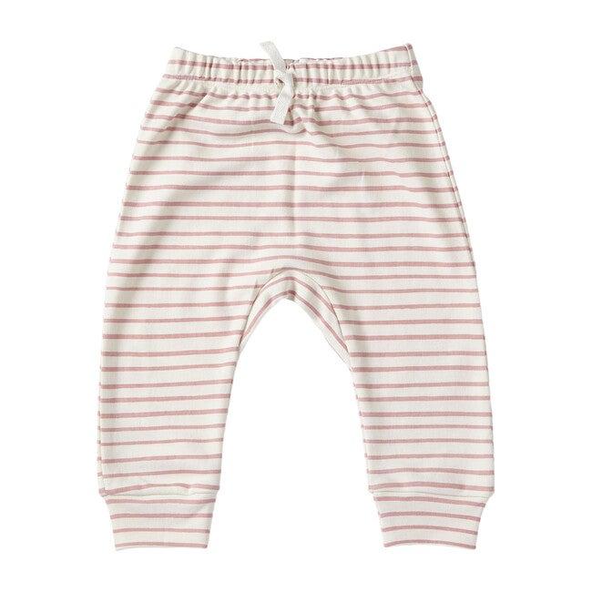 Organic Stripes Away Harem Pant, Pink