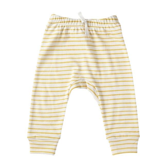 Organic Stripes Away Harem Pant, Marigold