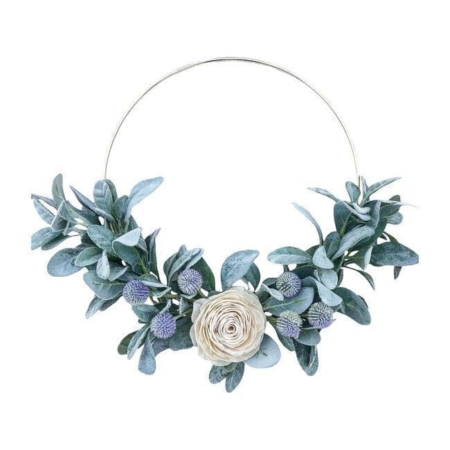 Spring Hoop Wreath, White Rose