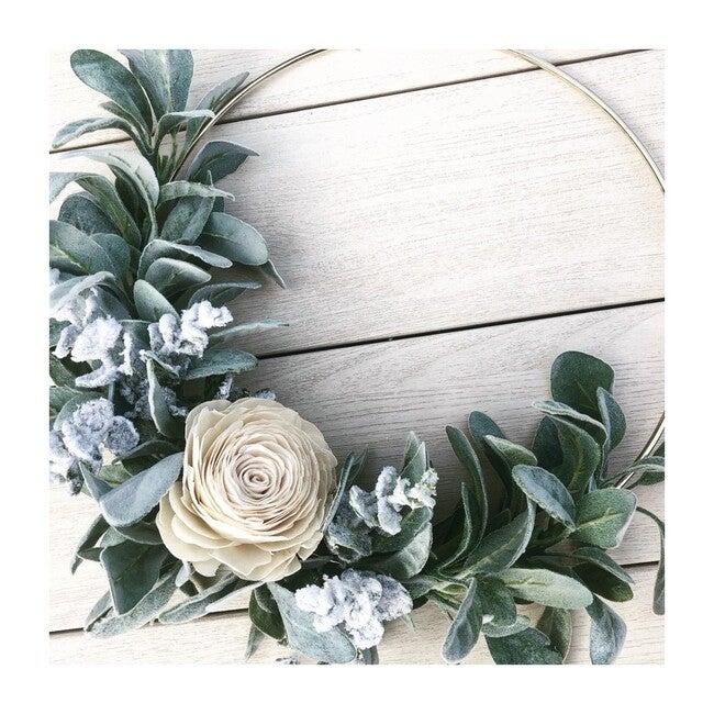 Hoop Wreath, White Rose