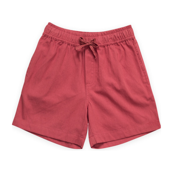 Pull on Straight Shorts, Summer Red