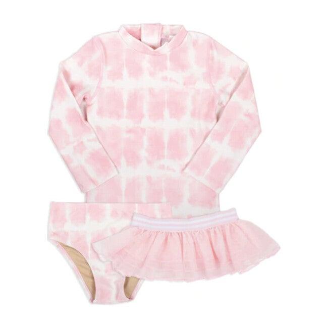 Rashguard Set & Tutu, Pink Tie Dye