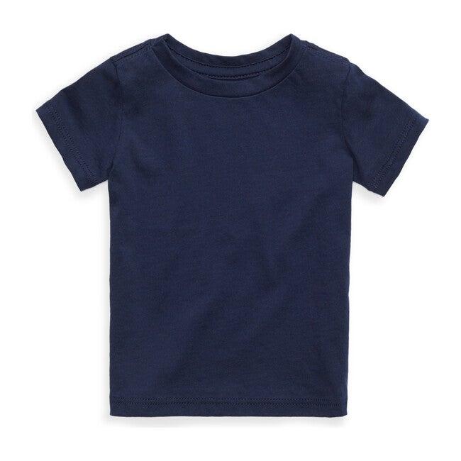 Organic Solid Short Sleeve Tee, Navy
