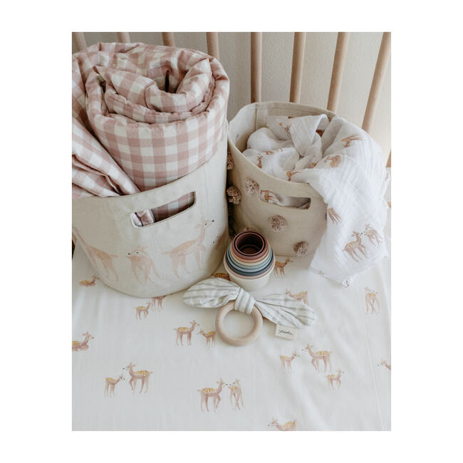 Follow Me Organic Cotton Swaddle, Deer