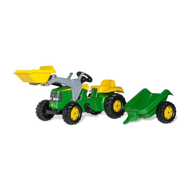 John Deere Kid Tractor w/Trailer