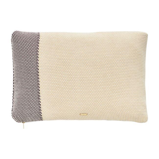 Koke Pillow, Yellow/Aubergine