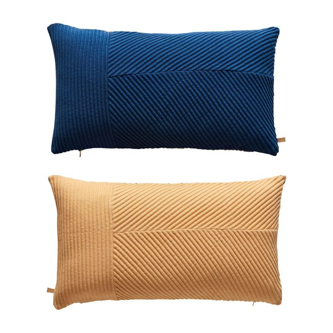Ada Cushion, Dazzling Blue/Peach