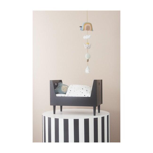 Doll Bedding, Black/White Dot