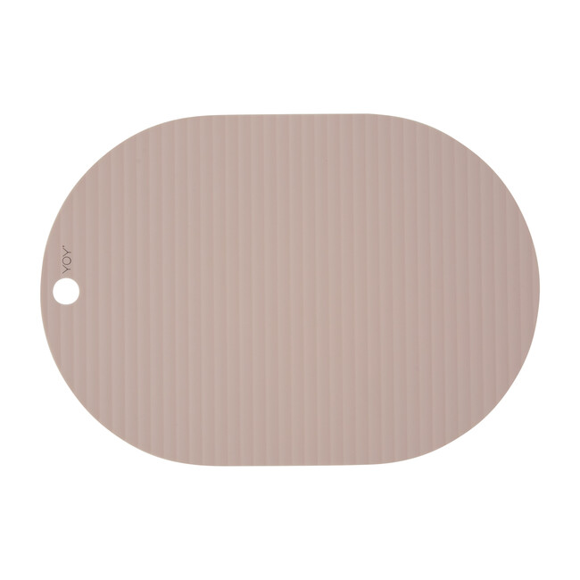 Set of 2 Ribbo Silicone Placemats, Rose