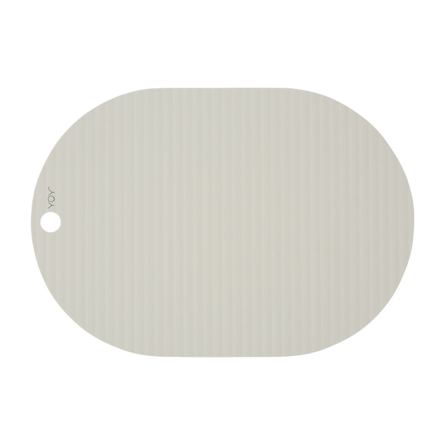 Set of 2 Ribbo Silicone Placemats, Off-White