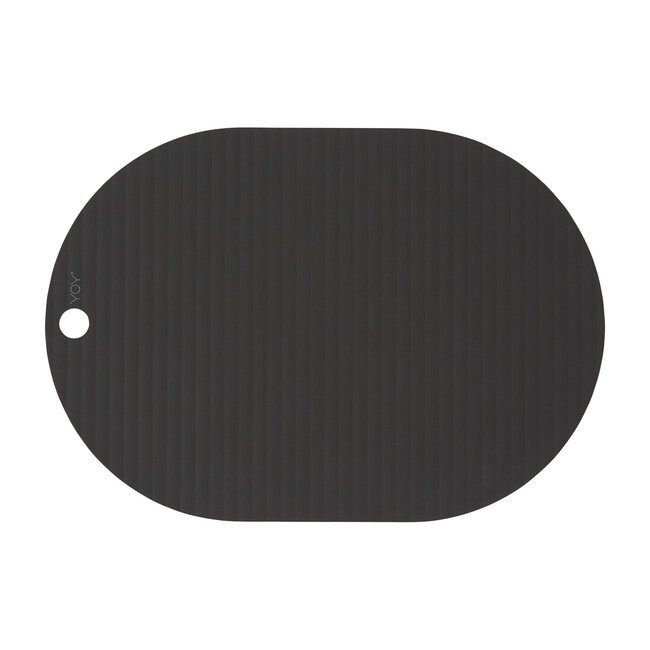 Set of 2 Ribbo Silicone Placemats, Black